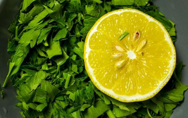 картинка лимона и петрушки